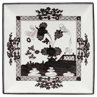 Richard Ginori 1735  ORIENTE ITALIANO ALBUS Piatto svuotatasche quadrato 26 cm