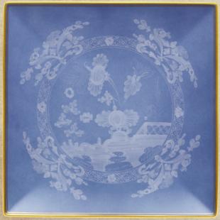 Richard Ginori 1735  ORIENTE ITALIANO ALBUS Piatto svuotatasche quadrato 21 cm