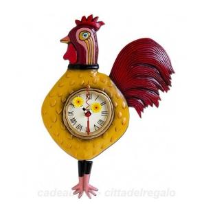 Orologio artistico in resina  Altezza : 34,5 cm (pila non fornita) Dipinto a mano Designer : Michelle Allen