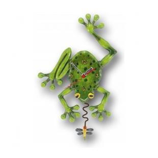 Orologio artistico in resina  Altezza : 33,5cm (pila non fornita) Dipinto a mano Designer : Michelle Allen