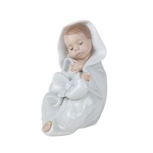 Nao by Lladrò ALL BUNDLED UP bimbo bambino fiocco