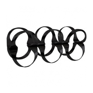 Alessi RIBBON Portabottiglie in acciaio colorato Black NERO