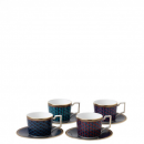 Wedgwood BYZANCE tazza espresso con piattino (set 4pz)