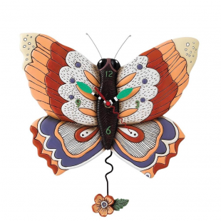 Allen Designs Farfalla Orologio da parete a pendolo