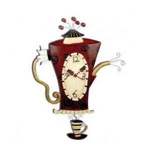 Orologio artistico in resina  Altezza : 49 cm Larghezza : 30,5 cm (pila non fornita) Dipinto a mano Designer : Michelle Allen