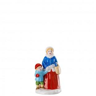 Hutschenreuther Weihnachtsmarkt Mamma con bimbo Figurine MERCATINO di NATALE 2019