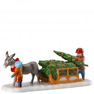 Hutschenreuther Weihnachtsmarkt Asinello e slitta Figurine MERCATINO di NATALE 2019