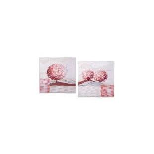 Cartapietra Coppia di 2 Formella 40*40 cm Un Nuovo Orizzonte Corallo quadro