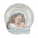 Cartapietra Quadro Formella sagomato Carezza della sera 60 x 60 cm  110688AQ acqua maternità