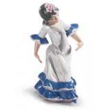 Lladrò BALLERINA DI FLAMENCO Juanita Flamenco Dancer Girl Figurine. Blue