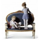 Lladrò PRONTE PER LE PROVE Ready for Practice Ballet Girls Figurine. Limited Edition