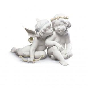 LLADRO' AMORE E PSICHE Eros e Psyche angels figurine