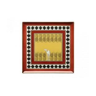 Richard Ginori 1735 TOTEM Piatto Vuotatasche Cammello 30cm vassoio quadrato