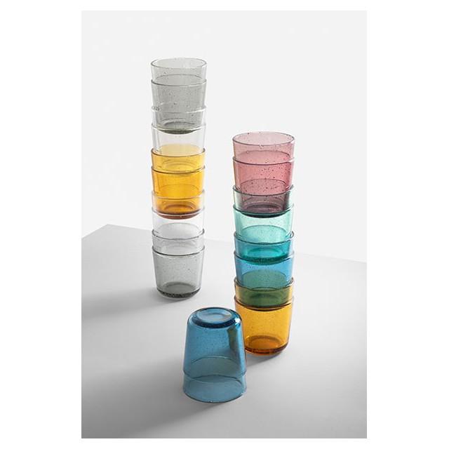 Ichendorf GAP Set 6 bicchieri Multicolor in Vetro impilabili