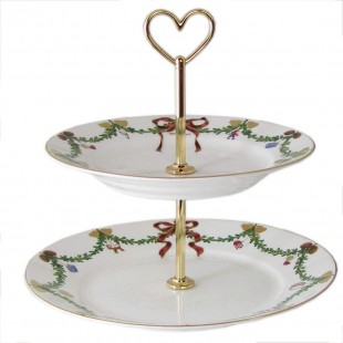 Royal Copenhagen Star Fluted/Xmas - Alzata in porcellana, multicolore