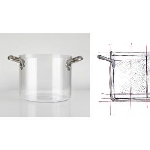 KnIndustrie THE GLASS POT pentola in vetro cm 24