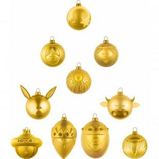 Alessi Palla per albero di Natale AMJ13 GOLD in vetro soffiato presepe