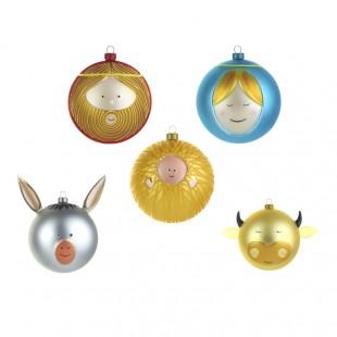 Alessi Palla per albero di Natale AMJ13 in vetro soffiato presepe