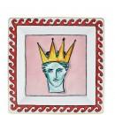Richard Ginori IL VIAGGIO DI NETTUNO Svuotatasche Quadrato Pink 24.5cm