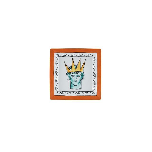Richard Ginori IL VIAGGIO DI NETTUNO Svuotatasche Quadrato Rock Orange 24.5cm