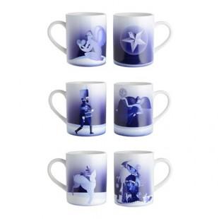 Alessi AAA06  BLUE CHRISTMAS mug porcellana