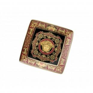Versace Bomboniera Medusa Ikarus Rosso Coppetta Quadrata 12 cm Completa di confezione Matrimonio/Nascita/Comunione/Laurea