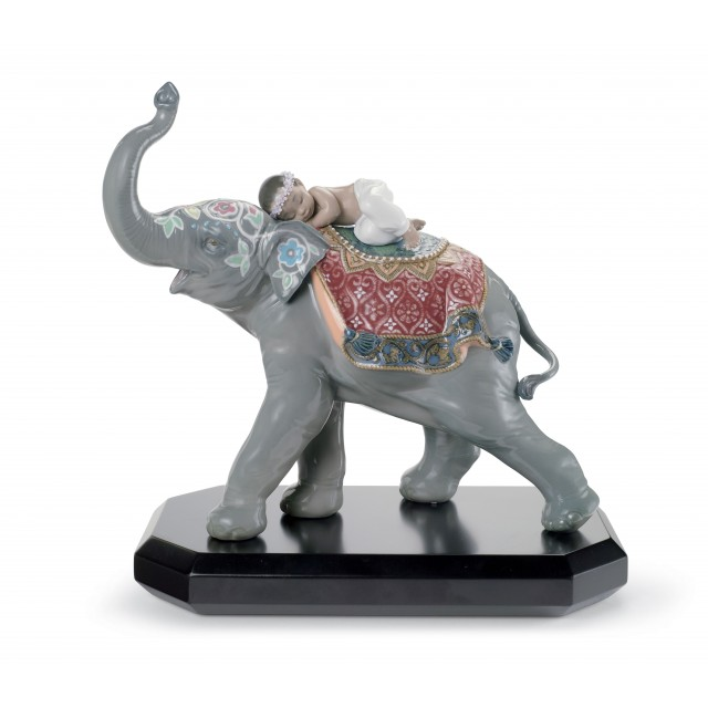 Lladrò Figurina Elefante festival a Jaipur
