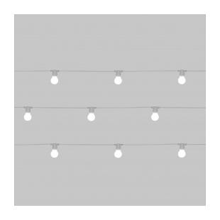 Set 10 Lights  Design: Selab  Material: Led lights, waterproof rubber support  Total Length: Mt. 14,2  For Indoor/Outdoor use  L