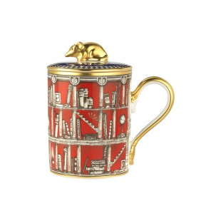 Richard Ginori 1735 TOTEM Mug con coperchio Topo