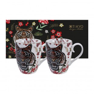 Tokyo Design Studio Magical Tiger Set 2 Mug Tazze Tigre
