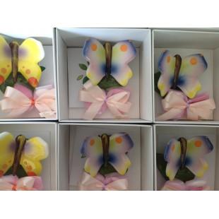 GLI ALBERELLI Bomboniera Le farfalle Gioiose Capodimonte Completa di confezione battesimo comunione matrimonio farfalla