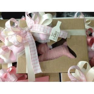 ROSENTHAL Bomboniera Coniglio Coniglietto Completa di confezione Battesimo Comunione Nascita matrimonio