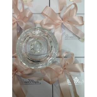 ROSENTHAL Bomboniera Coppetta con coperchio in Cristallo Completa di confezione Battesimo Comunione Nascita matrimonio