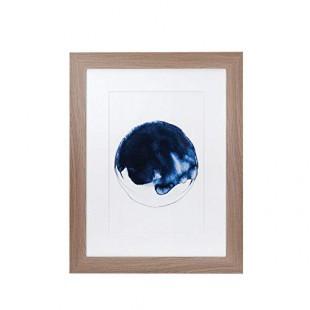 L'Oca Nera 1Q120 Quadro Stampa con cornice 73*93 blu