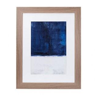 L'Oca Nera 1Q119 Quadro Stampa con cornice 73*93 blu