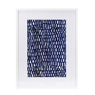 L'Oca Nera 1Q118 Quadro Stampa con cornice 63*83 blu