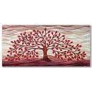 Cartapietra Quadro 150 x 70 albero della vita rosso 101501ro