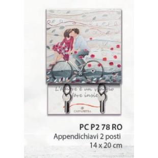 Cartapietra Appendichiavi Vieni Via con Me Coppia sposi (2 posti 14 * 20cm) Rosso