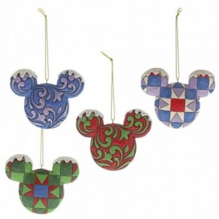 Jim Shore DISNEY Set Teste Mickey Mouse Ornament topolino