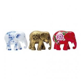 Elephant Parade FORTUNE Box set 3 pezzi 7cm Elefante Limited EditIon