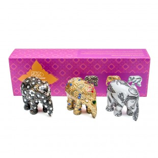 Elephant Parade SUKHOTHAI Box set 3 pezzi 7cm Elefante Limited EditIon