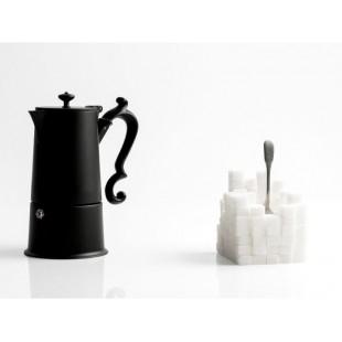 KnIndustrie LADY ANNE caffettiera 4 tazze BLACK