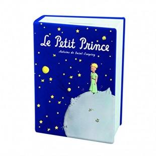 Le Petit Prince Bomboniera Salvadanaio Libro BLU Il Piccolo Principe Completa di confezione Matrimonio/Nascita/Comunione