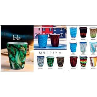 Livellara MURRINA Bicchiere in vetro artistico incamiciato