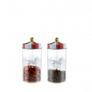 Alessi Circus Set 2 contenitori per spezie barattoli con coperchio