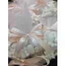 Bomboniera Veletto con confetti nascita battesimo matrimonio laurea