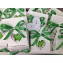 Bomboniera Scatola Bianca con confetti Completa di confezione battesimo comunione matrimonio