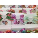 Bomboniera Scatola Bianca con confetti e Gessetto Completa di confezione battesimo comunione matrimonio