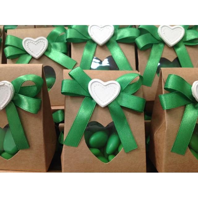 Bomboniera Scatola Cartone con confetti e Gessetto Completa di confezione battesimo comunione matrimonio