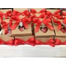 Bomboniera Scatola Cartone con confetti e Charms in metallo Completa di confezione battesimo comunione matrimonio laurea